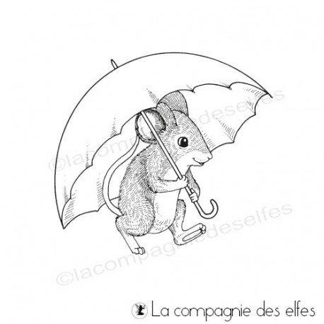 Tampon encreur souris | achat cachet souris animal