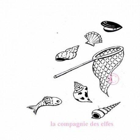 Tampon pêche | tampon filet pêche