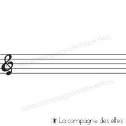 portée musicale tampon nm