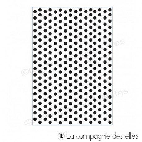 Les tampons de Sandrine Plaque-embossage-dots