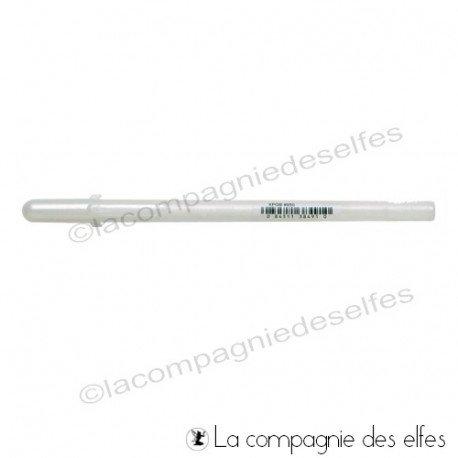 Acheter stylo gel blanc