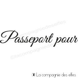 Tampon encreur passeport pour