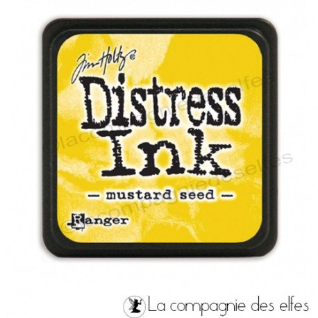 Cartes créatives Août 2019. Distress-jaune-moutarde-mustard-seed