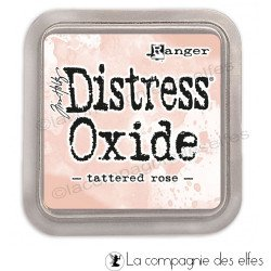 Encre distress tattered rose oxide