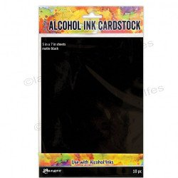 Tim Holtz alcohol ink cardstock black matte