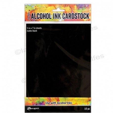 Tim Holtz alcohol ink cardstock black matte