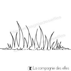 Tampon encreur herbe