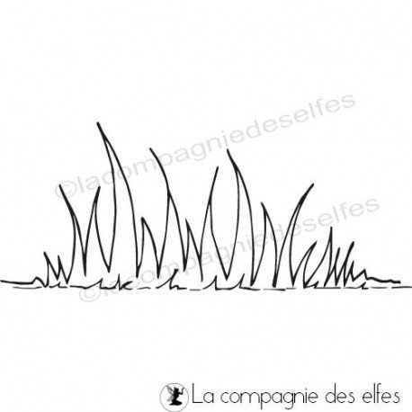 grass rubber stamp | pasto sello de goma