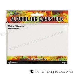 Papier cardstock blanc glossy