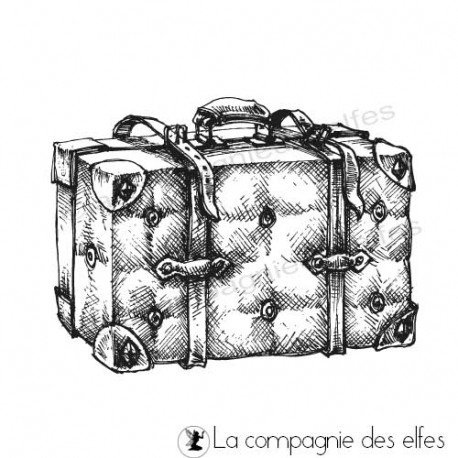 carte shabby vintage 3/3 prog 27/08 Tampon-scrap-valise