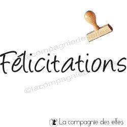 Timbre encreur félicitations