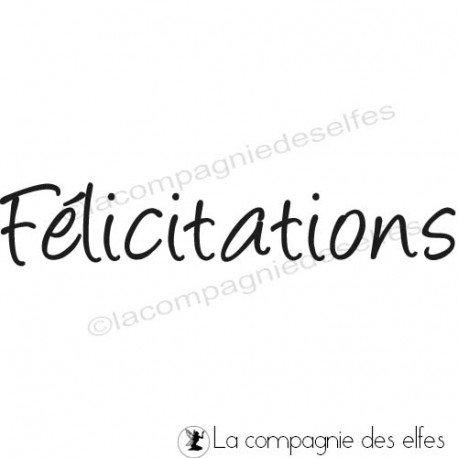 Tampon encreur félicitations