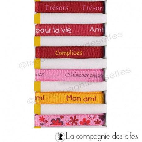 Ruban coton pour bracelet