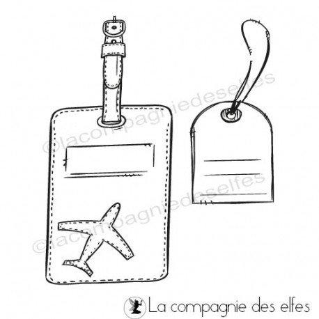 Cachet vacances| acheter timbre étiquette avion