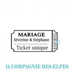 ticket mariage | faire part mariage | faire part mariés | DIY mariage | ticket mariés