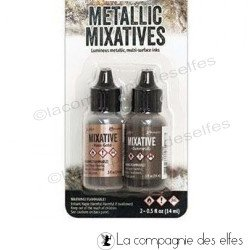 Achat gunmetal ink | encre alcool métalliques or rose