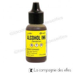 Encre alcool jaune | acheter encre dendelion