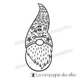 Leprechaun stamp | gnome rubber stamp | acheter tampon gnome