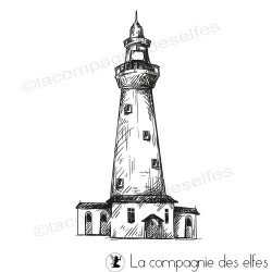 Tampon encreur phare | lighthouse rubberstamp | acheter tampon mer