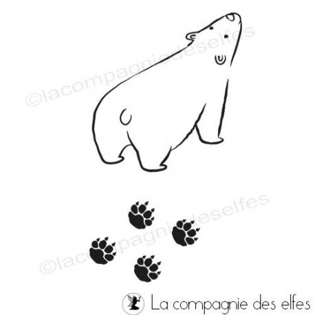 Tampon zoo | tampon encreur ours | acheter tampon animaux
