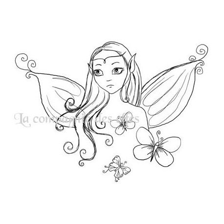 Fairy stamp | fairy rubber stamp