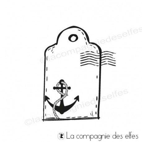 Timbre encreur étiquette | label rubberstamp | acheter timbre mer