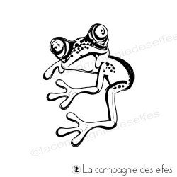 Tampon encreur grenouille funny