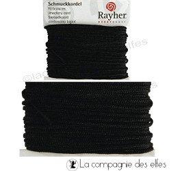 Fil noir rayher | fil 1 mm noir coton