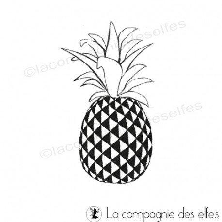 pineapple tree stamp | tampon scrap ananas