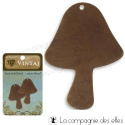 Plaque vintaj | plaque metal sissix | champignon en metal