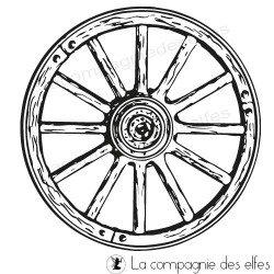 Timbre encreur roue | wheel rubberstamp