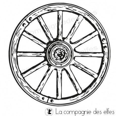 Timbre encreur roue | wheel rubberstamp