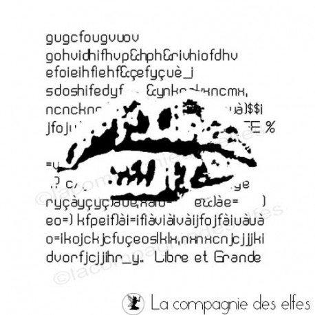 page d'art journal 2/2 Un-autre-visage-par-lilibulle-tampon-nm