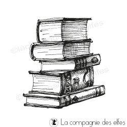 Tampon pile de livres