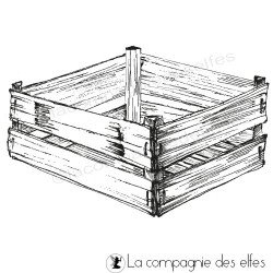 cachet encreur cagette | crate rubberstamp