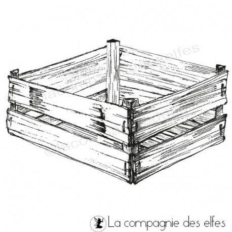 cachet encreur cagette | crate rubberstamp