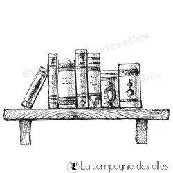 Tampon étagère livres