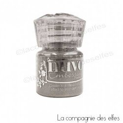 Nuvo embossing powder | achat poudre embosser argent