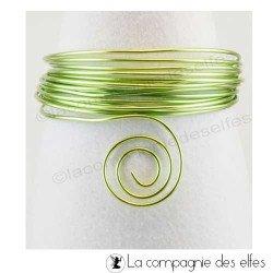 Achat fil alu | aluminium vert anis