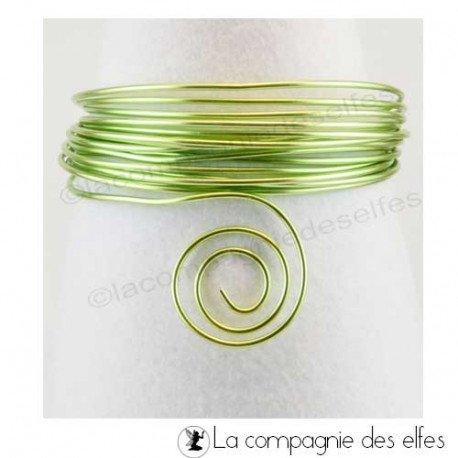 Achat fil alu   aluminium vert anis