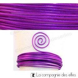 Achat fil alu violet | wire embossed