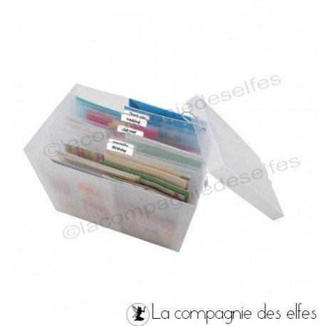 achat rangement scrap   card storage box