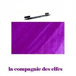 feutre brush aquarelle violet