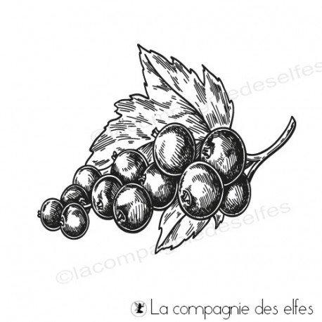 Challenge d'Octobre à la compagnie des elfes. Tampon-grappe-raisin