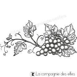 Tampon vigne raisin