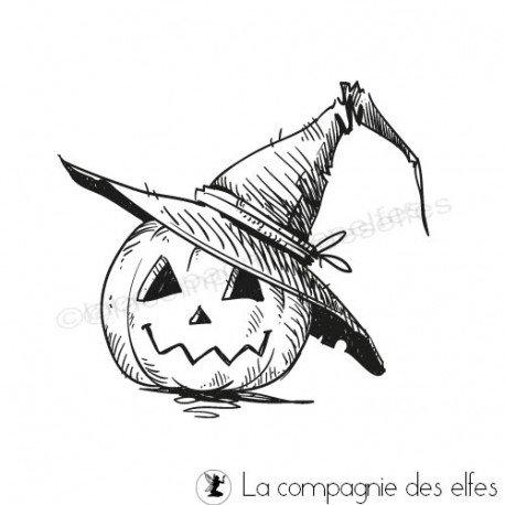étampe citrouille | achat cachet halloween | pumpkin stamp