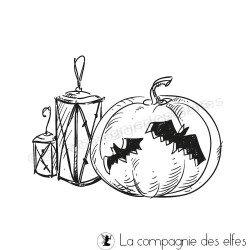étampe halloween | achat cachet lanterne | pumpkin stamp