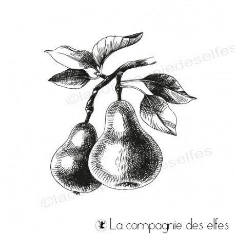 étampe fruits | achat cachet poire| pear fruit stamp
