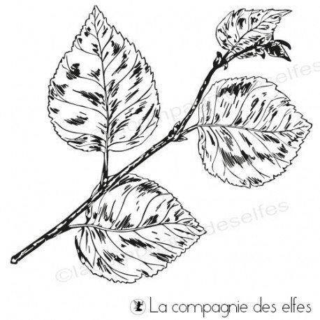 Tampons de Sandrine TEXTURES Tampon-feuilles-bouleau