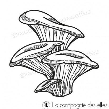 étampe champignon | achat cachet bolet | mushrom stamp